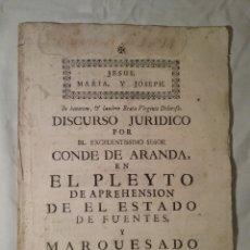Documentos antiguos: DOCUMENTOS , LEGAJO DE 1751, 53 PAGINAS ,29 CM X 21 CM. Lote 162485561