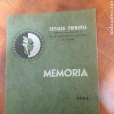 Documentos antiguos: ALCOY . 1934 MUTUALIDAD. Lote 162535349