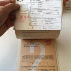 Documentos antiguos: DOCUMENTACION SEAT 850 1969. Lote 162691206