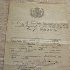 Documentos antiguos: ANTIGUOS DOCUMENTOS DE CONCESIÓN LICENCIA ABSOLUTA Y OTROS AÑO 1919. Lote 162902934