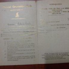 Documentos antiguos: ALCOY 1922. Lote 163141833