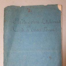 Documentos antiguos: PLEITO SOBRE EL TESTAMENTO DEL CONDE DE CASA PONCE DE 1819 16 PAGINAS - DOCUMENTO. Lote 163464858