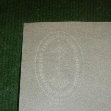 Documentos antiguos: CARTA MEMBRETE SELLO EN SECO PERPETUAS ADORATRICES DEL MONASTERIO DE VICH - HACIA 1950. Lote 163608510