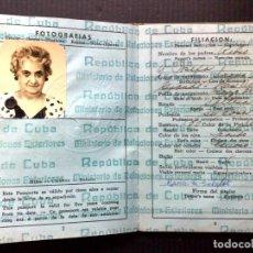 Documentos antiguos: PASAPORTE DE LA REPUBLICA DE CUBA (COMPL.32 PAG.) DADO EN LA HABANA,AÑO 1941 (DESCRIPCIÓN). Lote 164720394
