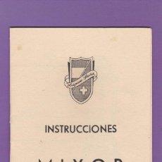 Documentos antiguos: INSTRUCCIONES MIXOR. HISPANO SUIZA - BATIDORA TRITURADORA AÑOS 50. Lote 164763726