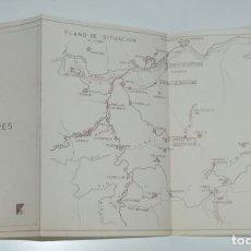Documentos antiguos: SALTO DEL JARES INFERIOR, RIO SIL, OURENSE, LEON, CON PLANO DESPLEGABLE DE INSTALACIONES DE LA PRESA. Lote 165153322