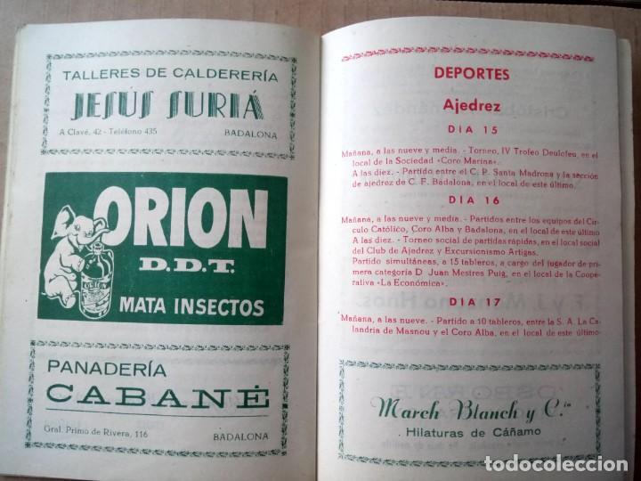 Documentos antiguos: BADALONA, PROGRAMA DE FIESTAS 1952, - Foto 3 - 165184306