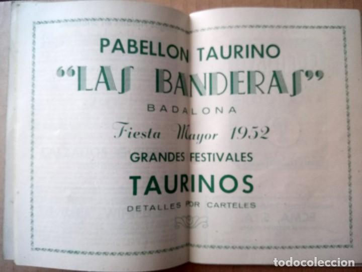 Documentos antiguos: BADALONA, PROGRAMA DE FIESTAS 1952, - Foto 4 - 165184306