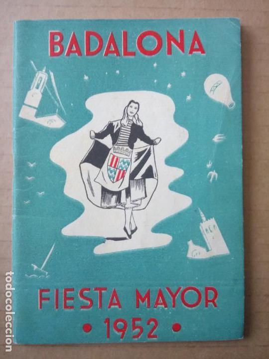 BADALONA, PROGRAMA DE FIESTAS 1952, (Coleccionismo - Documentos - Otros documentos)