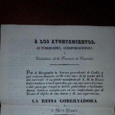 Documentos antiguos: PANFLETO CON MANIFIESTO DE LA REINA GOBERNADORA A LOS ESPAÑOLES - 1836. Lote 165396082