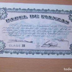 Documentos antiguos: PAPEL DE FIANZAS 100 PESETAS. CLASE B. INSTITUTO NACIONAL DE LA VIVIENDA. 1 DE ENERO DE 1940.. Lote 165492070