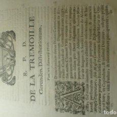 Documentos antiguos: R.P.D DE LA TREMOILLE GERUNDEN DISTRIBUTIONUM 1701 - PORTAL DEL COL·LECCIONISTA*****. Lote 165498074