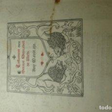 Documentos antiguos: TESTAMENT DEN BERNAT SERRADELL DE VICH - PORTAL DEL COL·LECCIONISTA *****. Lote 165500858