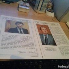 Documentos antiguos: DOS CUARTILLAS DEL REY JUAN CARLOS Y DE FELIPE GONZALEZ SOBRE LA EXPO 92. Lote 165549446
