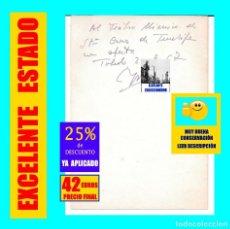 Documentos antiguos: LUIS MORENO NIETO - TOLEDO - HOJA CON DEDICATORIA AL TEATRO MÍMICO Y FIRMA 1967 - EXCELENTE - ÚNICA. Lote 165560850