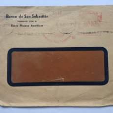 Documentos antiguos: SOBRE CARTA ANTIGUO BANCO DE SAN SEBASTIÁN BANCO HISPSNOAMERICANO. Lote 165574900