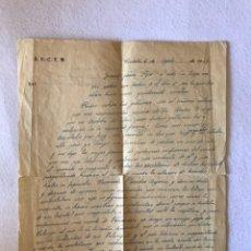 Documentos antiguos: CARTA. GUERRA CIVIL. MILITAR FALANGISTA DESAPARECIDO. S.E.C.E.M. CÓRDOBA.. Lote 165836584