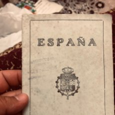 Documentos antiguos: PASAPORTE DE ESPAÑA ÉPOCA 1923 ESTA EN BUEN ESTADO ( VER LAS FOTOS ). Lote 166042812
