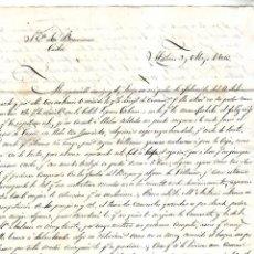 Documentos antiguos: CARTA. DE LA HABANA A CADIZ. 1856. FRAGATA GENERAL CHURRUCA. Lote 166090594
