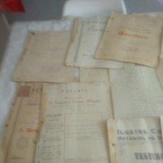 Documentos antiguos: LOTE DE ESCRITURAS ANTIGUAS . Lote 166147186