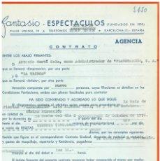Documentos antiguos: CONTRATO. FANTASIO. ACTUACIÓN DE LA TRINCA EN PLANETARIUM BADALONA, 1976. Lote 166255174