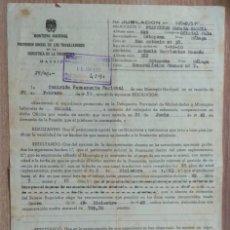 Documentos antiguos: DOCUMENTO JUBILACIÓN MÁLAGA 1951. Lote 166333714