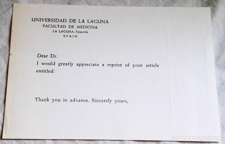 ANTIGUO DOCUMENTO DE LA UNIVERSIDAD DE LA LAGUNA, FACULTAD DE MEDICINA (Coleccionismo - Documentos - Otros documentos)