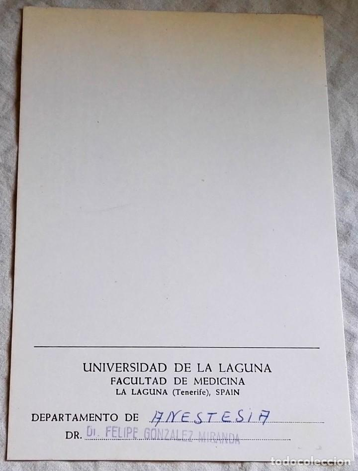 Documentos antiguos: Antiguo Documento De La Universidad De La Laguna, Facultad De Medicina - Foto 2 - 166396686