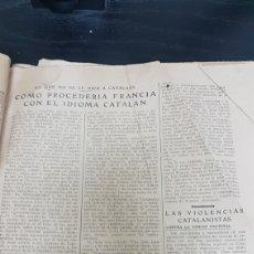 Documentos antiguos: ESPAÑA ENTERA DICE A CATALUÑA HERMANOS O EXTRANJEROS. Lote 166537176