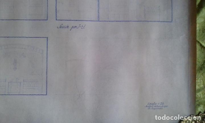 Documentos antiguos: Planos y proyectos. Año 1940 - Foto 3 - 166643210