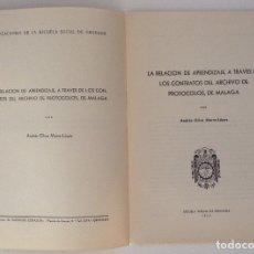 Documentos antiguos: ANDRÉS OLIVA MARRA-LÓPEZ ESCUELA SOCIAL DE GRANADA 1954 LA RELACIÓN DE APRENDIZAJE, A TRAVÉS .... Lote 166726382