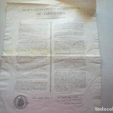 Documentos antiguos: AYUNTAMIENTO CONSTITUCIONAL DE TARRAGONA. Lote 166739002