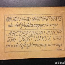 Documentos antiguos: CUADERNO DE ROTULACION MESONERO, CIRCA 1940. Lote 166927816