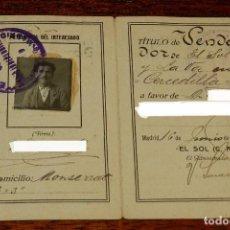 Documentos antiguos: CARNET DE VENDEDOR DEL DIARIO INDEPENDIENTE LA VOZ EN CERCEDILLA, MADRID, AÑO 1924, MIDE ABIERTO 15,. Lote 166978172