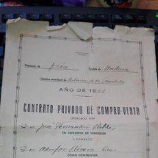 Documentos antiguos: CONTRATO PRIVADO DE COMPRA-VENTA BELMEZ DE LA MORALEDA 1952. Lote 167002060
