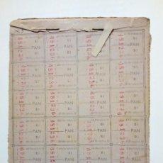 Documentos antiguos: CARTILLA O COLECCION DE CUPONES DE RACIONAMIENTO (2º SEMESTRE 1951, BILBAO) PAN, ACEITE, LEGUMBRES 3. Lote 167180612