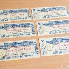 Documentos antiguos: ENTRADA BALLET MOÏSSEÏEV - BARCELONA - AÑOS 60. Lote 167280276