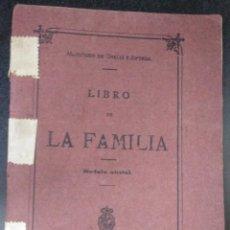 Documentos antiguos: LIBRO DE FAMILIA 1918 BILBAO MATRIMONIO E HIJOS. Lote 167496768