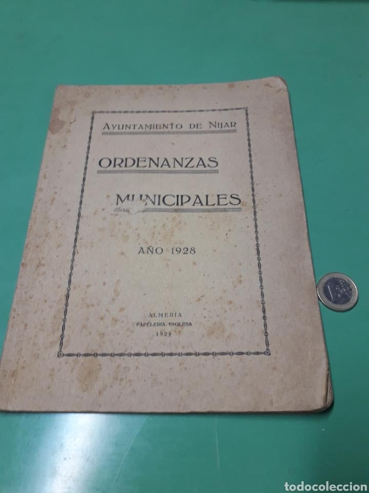 AYUNTAMIENTO DE NÍJAR. ORDENANZAS MUNICIPALES 1928. (Coleccionismo - Documentos - Otros documentos)
