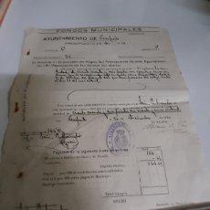 Documentos antiguos: 1910 AYUNTAMIENTO COSOEITO LUGO FONDOS MUNICIPALES. Lote 167835920