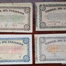 Documentos antiguos: PAPEL FIANZAS: 4 DE 50 PTS (1960), 1 DE 100 PTS (1940), 20 DE 500 PTS (1978) Y 10 DE 1000 PTS (1978). Lote 168375876