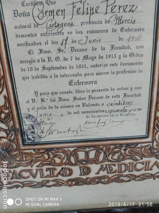 Documentos antiguos: Antiguo papel titulo universidad literaria de valencia, facultad Certificación académica personal - Foto 4 - 168515584