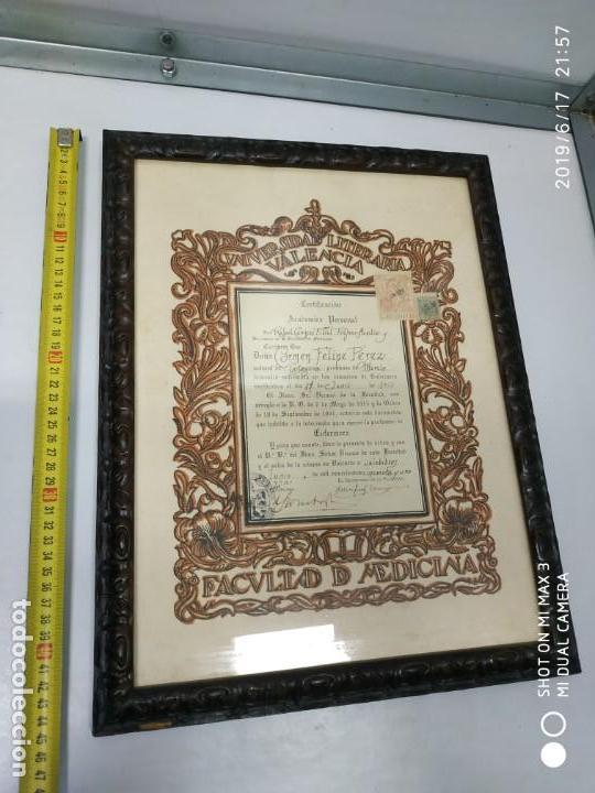 Documentos antiguos: Antiguo papel titulo universidad literaria de valencia, facultad Certificación académica personal - Foto 9 - 168515584
