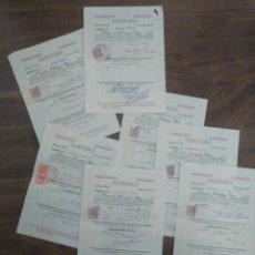 Documentos antiguos: LOTE 7 BOLETINES DE NOTAS DERECHO UNIVERSIDAD DE SEVILLA 1956 1957. Lote 168554936