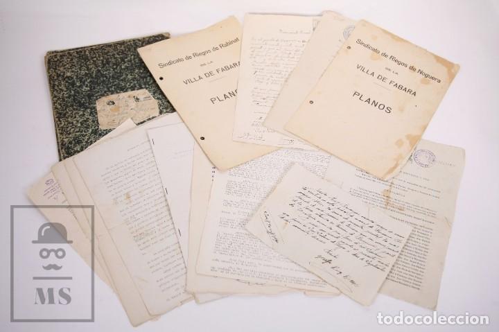 CONJUNTO DE DOCUMENTOS Y ESCRITURAS - RASQUERA, TORTOSA, DOMINGO PIÑANA Y HOMEDES - AÑOS 30-60 (Coleccionismo - Documentos - Otros documentos)