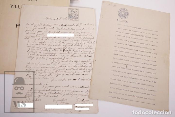 Documentos antiguos: Conjunto de Documentos y Escrituras - Rasquera, Tortosa, Domingo Piñana y Homedes - Años 30-60 - Foto 4 - 168704260