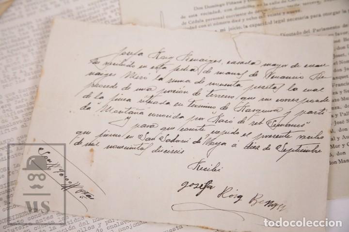 Documentos antiguos: Conjunto de Documentos y Escrituras - Rasquera, Tortosa, Domingo Piñana y Homedes - Años 30-60 - Foto 7 - 168704260