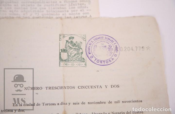 Documentos antiguos: Conjunto de Documentos y Escrituras - Rasquera, Tortosa, Domingo Piñana y Homedes - Años 30-60 - Foto 9 - 168704260