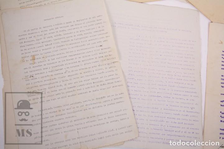Documentos antiguos: Conjunto de Documentos y Escrituras - Rasquera, Tortosa, Domingo Piñana y Homedes - Años 30-60 - Foto 13 - 168704260