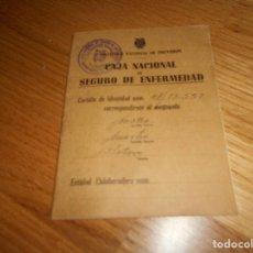 Documentos antiguos: INSTITUTO NACIONAL DE PREVENCIO - CAJA NACIONAL DE SEGURO DE ENFERMEDAD. Lote 168725312